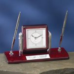 Dual Clock Pen Holder Boss Gift Awards