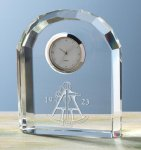 Faceted Arch Clock Employee Awards