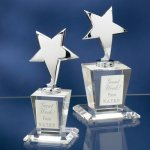 Chrome Stars with Crystal Bases Sales Awards