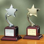 Shooting Star on Piano Finish Base Sales Awards
